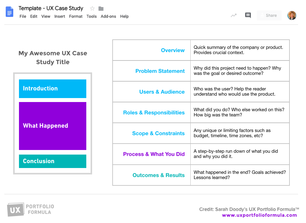 Writing a UX case study